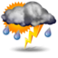 thunderstorm Partly cloudy