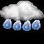 Слабый ливневый дождь Ясно