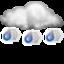Слабый ливневый дождь со снегом Облачно