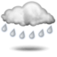 rain with thunderstorm and hail Partly sunny