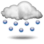 rain with hail, strong thunderstorm Partly sunny