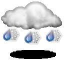 Дождь со снегом Облачно