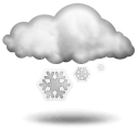 Слабый снег Облачно
